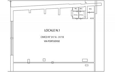 Locale negozio – Via Portuense n° 317/a – 317/b